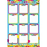 preschool birthday chart - Ashley Productions ASH91007 Smart Poly Chart, Happy Birthday, Emojis