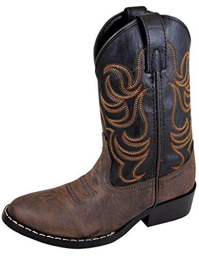 Smoky Mountain Children Boys Monterey Western Cowboy Boots Brown/Black, 1.5
