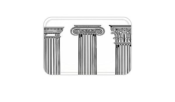 kisscase Custom puerta matpillar Decor antiguo tema columna capitalillustration antigua arquitectura patrón negro y blanco: Amazon.es: Jardín