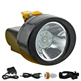 LED Waterproof Headlamp, ACMENOVO 2800mah 15 Hours Lighting Rechargeable Portable Head Light Miner Cap Lamp for Safety Helmet, Hard Hat, Hiking, Hunting, Fishing, Camping, Outdoor, Coal and Mining