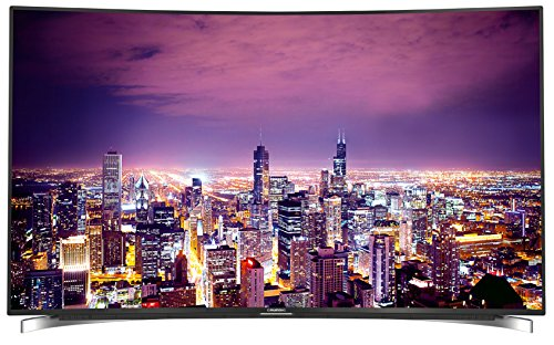 Grundig FLX 9590 BP 164cm (65 Zoll) Curved Fernseher (Ultra-HD, HD Triple Tuner, 3D, Smart TV) schwarz