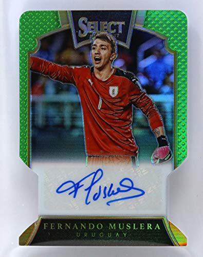 Fernando Muslera Uruguay 06/60 Die Cut Panini Select Auto Autograph Signature Trading Card Exclusive Collectible Football Soccer