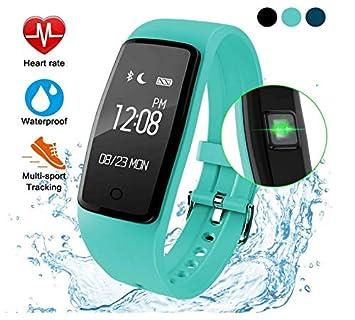 ZLQF Montre Cardiofréquencemètre, Tracker Dactivité Écran Coloré Moniteur De Sommeil, Réveil,
