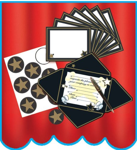 Beistle Hollywood Invitations and Seals (8 count)