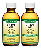 De La Cruz Pure Olive Oil 2 FL. OZ. - Bottled in USA (2 Bottles)