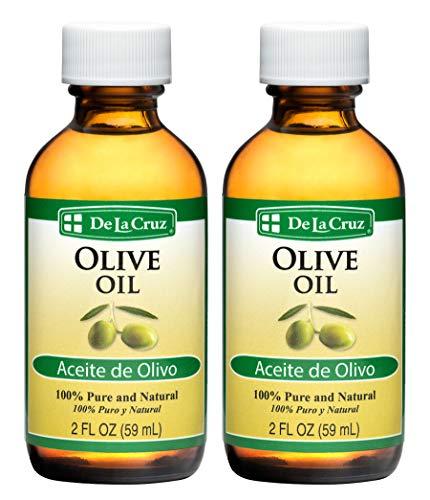 (De La Cruz® Pure Olive Oil 2 FL. OZ. - Bottled in USA (2 Bottles) )