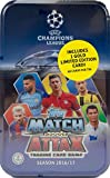 #8: 2016 2017 Topps UEFA Champions League Match Attax Card Game MEGA Collectors Tin with 60 Cards and a Bonus GOLD Limited Edition Card
