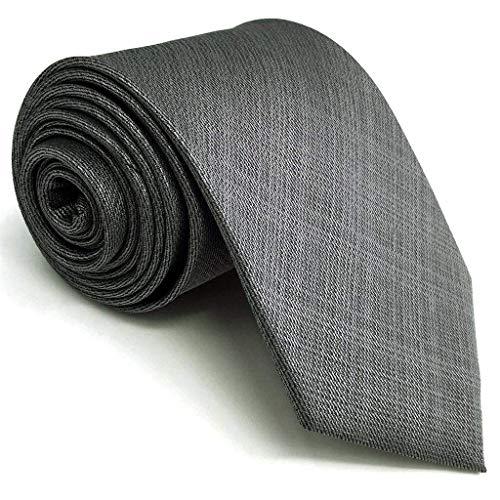 Grey Wings - Shlax&Wing Solid Color Grey Mens Neckties Ties Business Suit XL 63