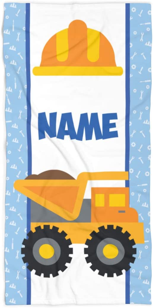 "Kids/' Personalized 30/""x60/"" Truck Beach Towel"