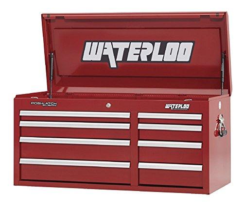 Storage Professional Chest Series Tool (Waterloo Professional Series 8-Drawer Tool Chest with Internal Tubular Keyed Locking System, Red Finish, 41