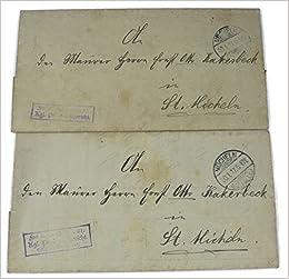 2 X Amtlicher Brief Königl Preuss Amtsgericht Mücheln Amazonde