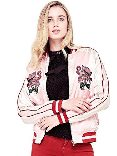 Reversible Femme bleu Rose Bomber Blouson Guess tzx4Awxq5
