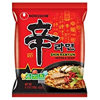 Nongshim Shin Ramyun Noodle Soup, Gourmet Spicy, 4.2 Ounce (Pack of 16)-SET OF 2