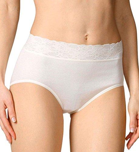 Calida Lycra Lace Brief Panties (23907) L/Champagne