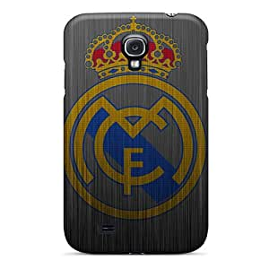 Scratch Resistant Hard Cell-phone Case For Samsung Galaxy S4 (DcG5616xUVQ) Support Personal Customs Fashion Real Madrid Metal Logo Skin
