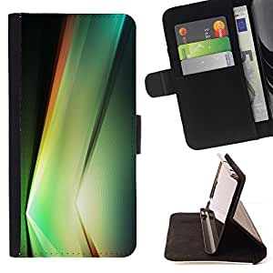 For HTC One M7 Case , Planta vibrante Negro Formas Naturaleza- la tarjeta de Crédito Slots PU Funda de cuero Monedero caso cubierta de piel