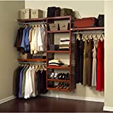 John Louis Home JLH 526 Deluxe 16 Inch Deep Closet Shelving System, Red