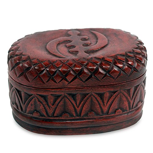 (NOVICA Hand Crafted Wood Decorative Box, Brown 'My Girl Friday')