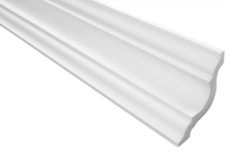 blanc 30 M/ètres 15 Plinthes Moulure en Stuc XPS Stable Marbet 65x65mm E-25