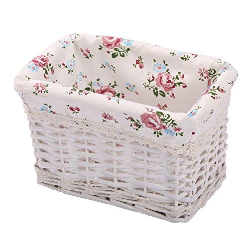 Woven Rectangular Wicker Storage basket,Small Organizer Box,Kingwillow
