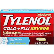 Tylenol Cold and Flu Severe Caplets, 24 Count