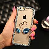 5c cases with gems - Case For iPhone 5C, HandyCase Love Swan Blue Gemstone Phone Back Cover Rhinestones Diamond Crystal Phone Shell Transparent Hard PC Phone Case - Pattern 2