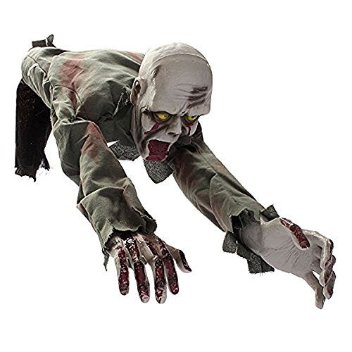 MareLight Electronic Crawling Light Sensored Halloween Horror Zombie Skeleton Bloody Haunted Animated Prop Decorations-