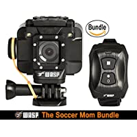 WASPcam 9905 WiFi Action-Sports Camera, Black (The Soccer Mom Bundle)