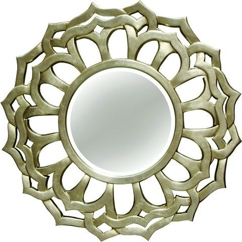 A and A Art Gallery Fleur De Lis Decorative Wall Mirror Champagne