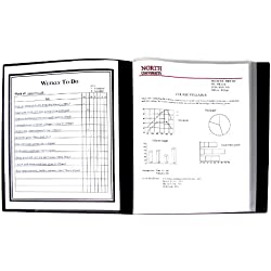 C-Line 12-Pocket Bound Sheet Protector Presentation Book, 24-Page Capacity, For 8.5 x 11-Inch Inserts, Black (33120)
