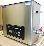 Ultrasonic Cleaner (7L) with Dual Frequency Control, 20khz 40khz, Stainless and Jewelry Steel Basket 7L Liter Tank, 300W Heater for Medical, Dental, Car and Firearm Parts