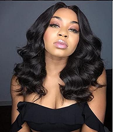 amazon com rhah hair middle part glueless wavy lace front bob wig