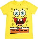 Spongebob Squarepants Happy Face Glow in The Dark Yellow T-Shirt Tee (Boy's 4)