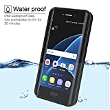 Waterproof Galaxy S7 Edge Case, Besinpo Underwater 6.6ft 30 minutes Full Body Protective Cover for Samsung Galaxy S7 Edge Only(5.5inch,Black)