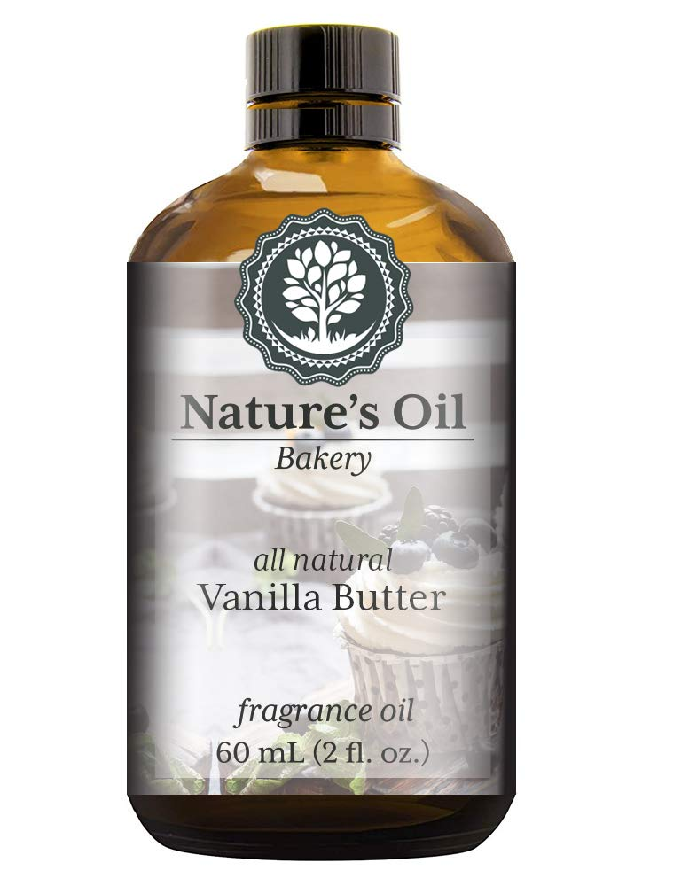 Vanilla Butter Fragrance Oil (60ml) For Diffusers, Soap Making, Candles, Lotion, Home Scents, Linen Spray, Bath Bombs, Slime