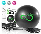 Product review for Live Infinitely Pro Grade 9 Inch Mini Exercise Pilates Ball with Pump for Home Exercise, Balance Training, Yoga & Barre Workout – Includes Hand Pump, Needle Valve & Mesh Carrying Bag