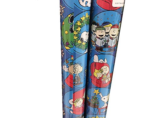 Gift Wrap ~ PEANUTS ~ Wrapping Paper - 1 ROLL (BLUE BOW)