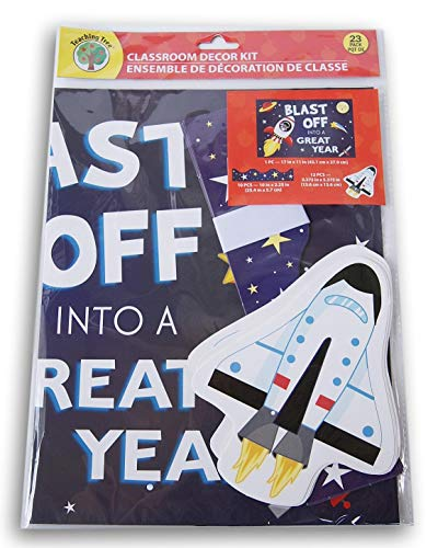 Teaching Tree Classroom Decor - Blast Off Into A Great Year Space Theme - 23 Ct -