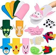 Tacobear Kids Craft and Art Aupplies Hand Puppet Making Kit Felt Sock Puppet Creative DIY Make Your Own Puppet