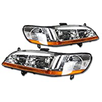 DNA Motoring HL-OH-HA98-CH-AB Headlight Assembly, Driver and Passenger Side