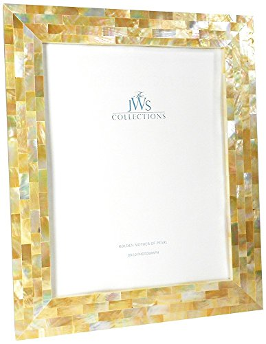 (JWS Collections Golden Mother of Pearl Oyster Shell 8x10 Picture)