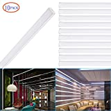 Brillihood 3.3 FT/1M Aluminum Channel for LED Light Strip Mounting, U-Shaped LED Aluminum Extrusion Diffuser with Milky Cover, Channel Lighting housing, Easy Installation (10-Pack)