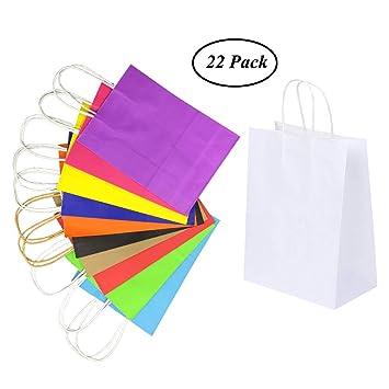 Bolsa de papel para fiesta SAIYU Bolsas de papel para regalo Bolsas Kraft con asas para