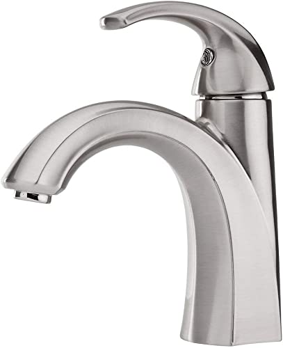 Pfister Selia Brushed Nickel 1-Handle Single Hole 4-in Centerset WaterSense Bathroom Sink Faucet with Drain