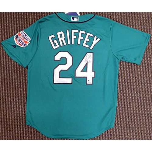 official photos bfc2e 1c0de Seattle Mariners Ken Griffey Jr. Signed Teal Majestic Jersey ...
