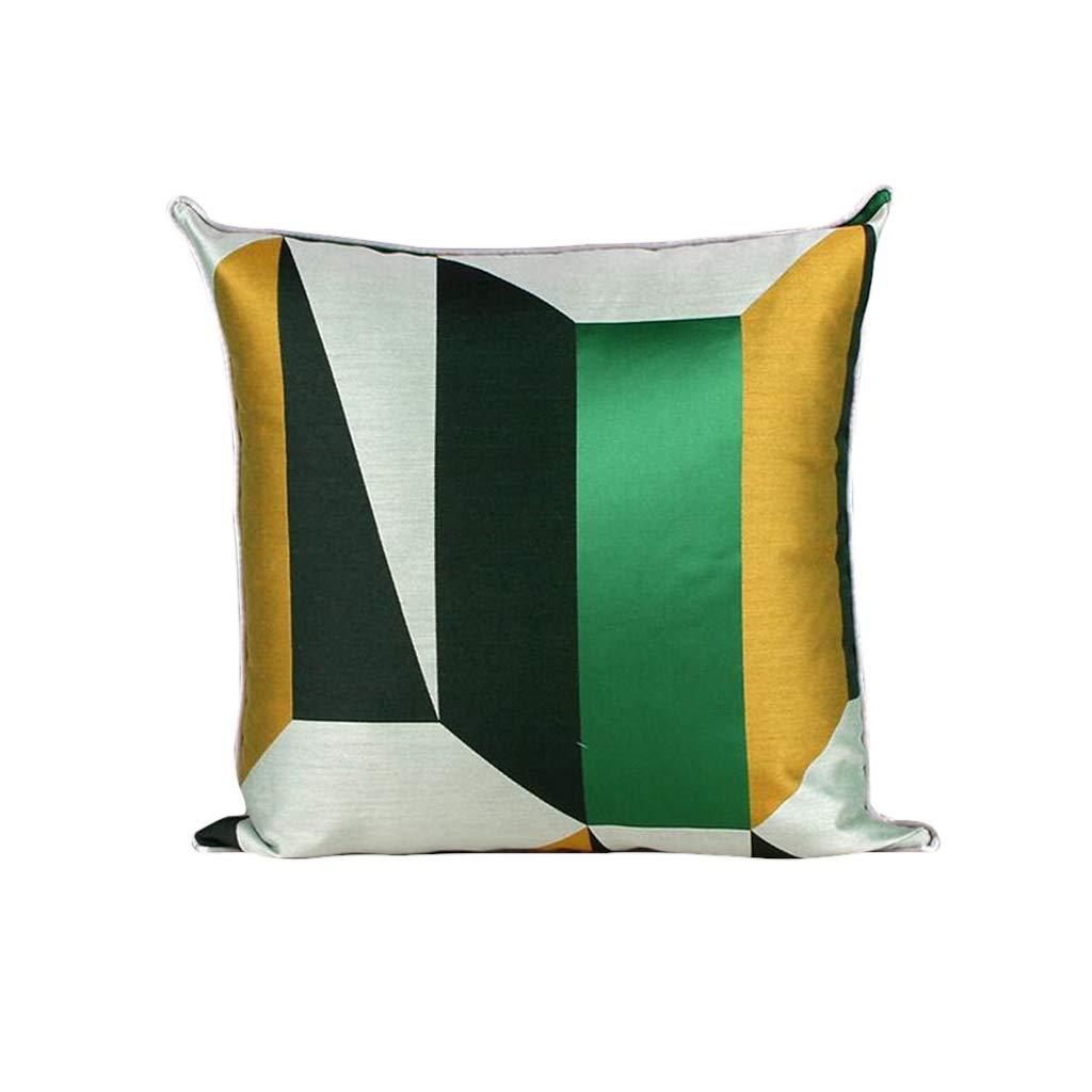 DUHUI Wohnzimmer-Sofa Hochwertiges Kissen-einfaches Abstraktes Geometrisches Kissen-Mischfarben-Kissen (Farbe : B, größe : 50x50cm)