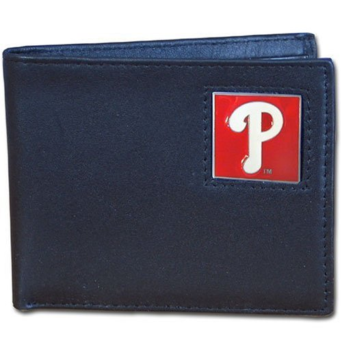MLB Philadelphia Phillies Leather Bi-fold (Philadelphia Phillies Mlb Leather)