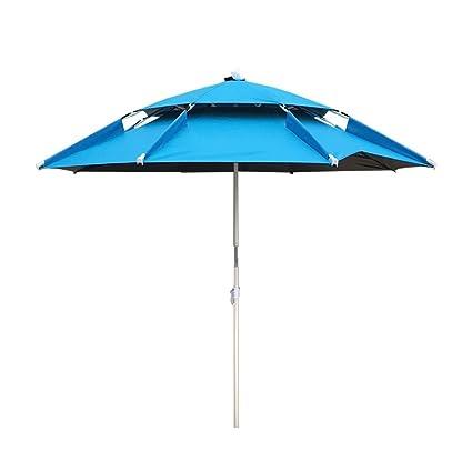 Amazon.com: Paraguas de pesca plegable con paraguas de playa ...