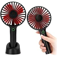 SPARIN Portable Mini Handheld USB Fan with 4 Wind Selections (Black)