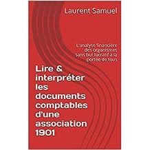 Lire & interpréter les documents comptables d'une association 1901: L'analyse financière des organismes sans but lucratif à la portée de tous (French Edition)